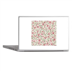Shabby Sweet Petite Pink Roses Laptop Skins