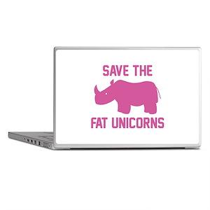 Save The Fat Unicorns Laptop Skins