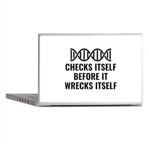 DNA Checks Itself Laptop Skins