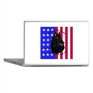Belgian Sheepdog & Flag Laptop Skins