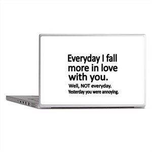 Everyday I fall more in love with you Laptop Skins