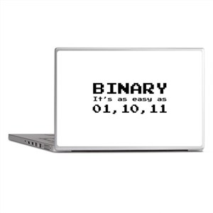 Binary It's As Easy As 01,10,11 Laptop Skins