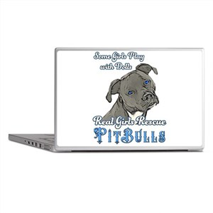Real Girls Rescue Pitbulls Laptop Skins