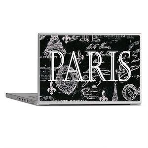 Paris Black and White Laptop Skins