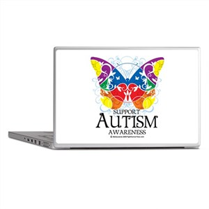 Autism Butterfly Laptop Skins