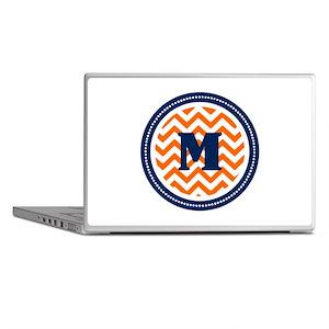 Orange & Navy Laptop Skins