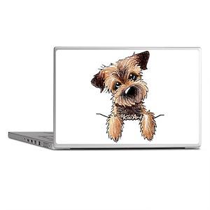 Pocket Border Terrier Laptop Skins
