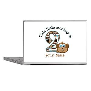 2nd Birthday Monkey Personalized Laptop Skins