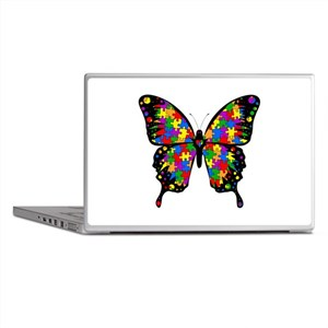 Autism Butterfly Laptop Skin