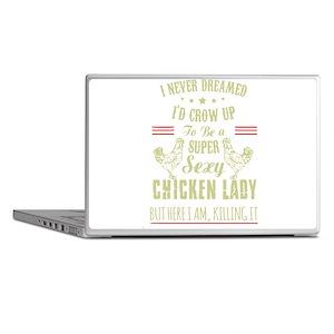 Chicken lady T-shirt Laptop Skins