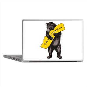 Vintage California Bear Hug Illustrat Laptop Skins