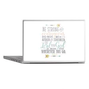 Joshua 1:9 Bible Verse Laptop Skins