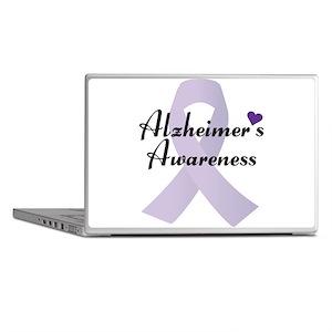 Alzheimers Awareness Ribbon Laptop Skins