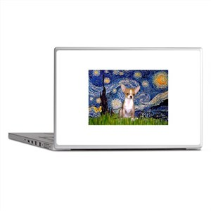 Starry Night Chihuahua Laptop Skins