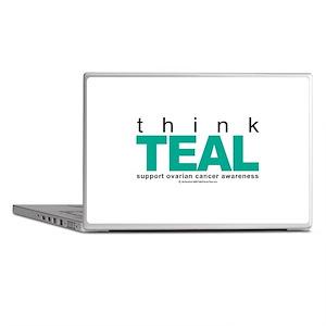 Ovarian Cancer THINK TEAL Laptop Skins