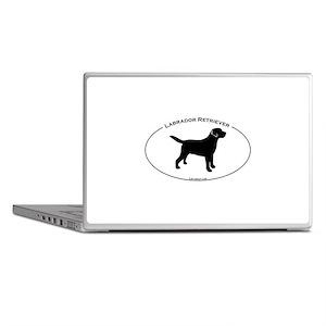 Labrador Oval Text Laptop Skins