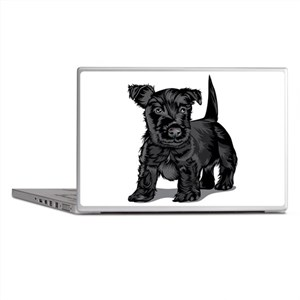 Cute Schnoodle dog Laptop Skins