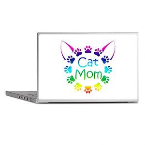 """Cat Mom"" Laptop Skins"