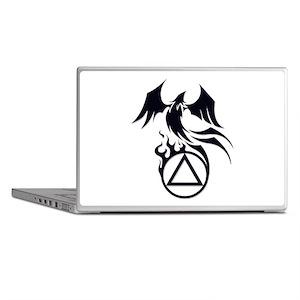 A.A. Logo Phoenix B&W - Laptop Skins