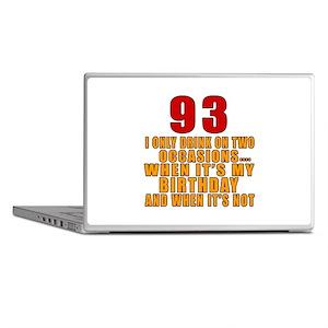 93 Birthday Designs Laptop Skins