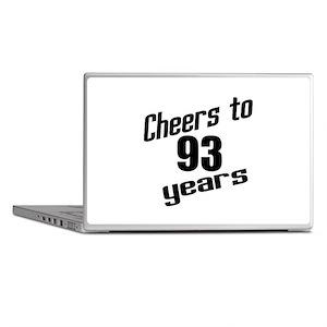 Cheers To 93 Years Birthday Laptop Skins