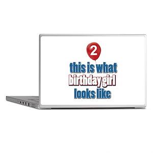 2 year old birthday girl designs Laptop Skins