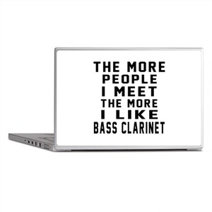 I Like More Bass Clarinet Laptop Skins