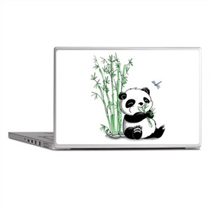 Panda Eating Bamboo Laptop Skins
