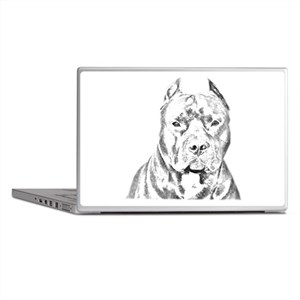Pit Bull Head Laptop Skins