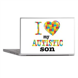 Autistic Son Laptop Skins