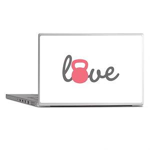 Love Kettlebell in Pink Laptop Skins