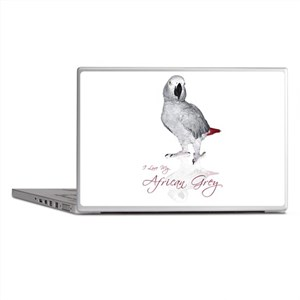 i love my african grey Laptop Skins
