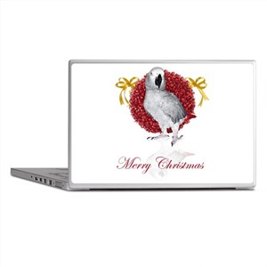african grey parrot holiday Laptop Skins