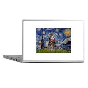 Starry Night / Tiger Cat Laptop Skins