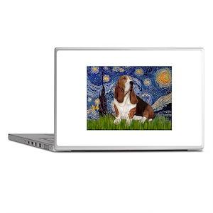 Starry Night Basset Laptop Skins