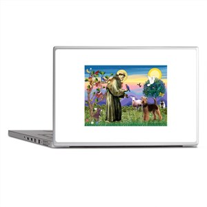 St Francis / Airedale Laptop Skins