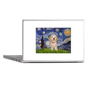 Starry Night Havanese Pup Laptop Skins