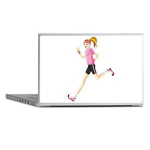 Running sport girl Laptop Skins