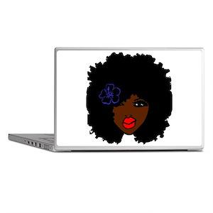 BrownSkin Curly Afro Natural Hair???? Laptop Skins