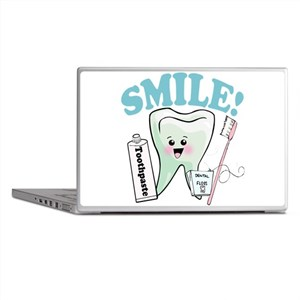 Smile Dentist Dental Hygiene Laptop Skins
