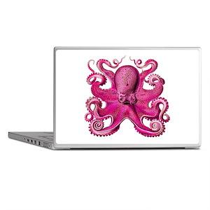 Pink Octopus Laptop Skins