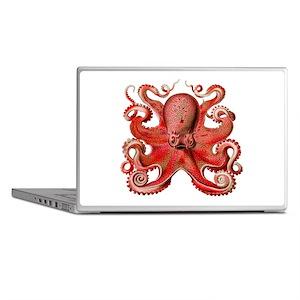Red Octopus Laptop Skins