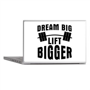 Dream big lift bigger Laptop Skins