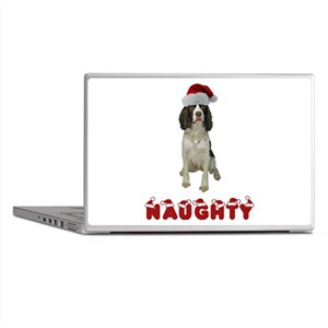 Naughty Springer Spaniel Laptop Skins
