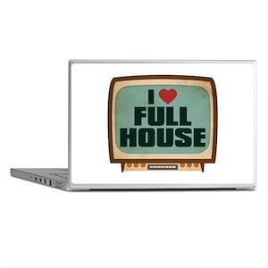 Retro I Heart Full House Laptop Skins