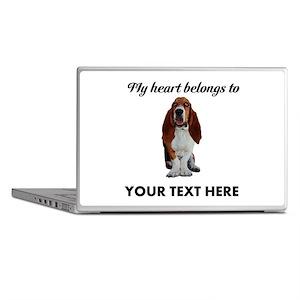 Personalized Basset Hound Laptop Skins