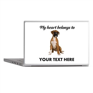 Personalized Boxer Dog Laptop Skins