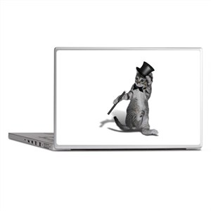 Tap Dancing Cat Laptop Skins