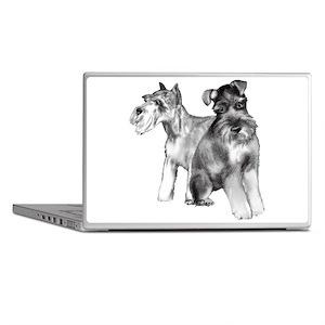two schnauzers Laptop Skins