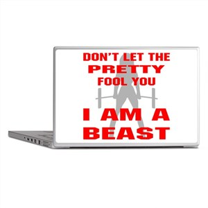 Female I Am A Beast Laptop Skins